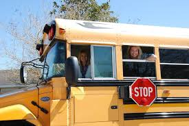 Taking the bus to school!